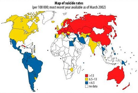 Map of Suicide Rates